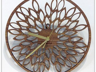 壁掛時計 LEAF(ウォールナット)の画像