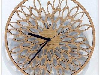 壁掛時計 LEAF(オーク)の画像