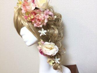 バラとジャスミンのヘッドドレス 全8パーツの画像