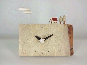 木製時計ーのほほん雲(楠)の画像
