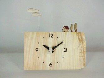 木製時計ーのほほん雲(桧)の画像