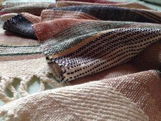 手織り リトアニアウール ブルーグラデーションの画像