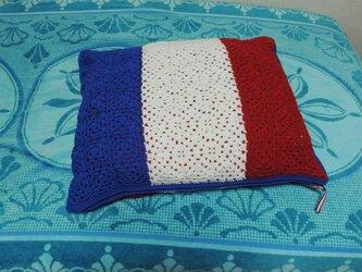 みもざ様オーダー品・フランス国旗のクッションカバーの画像