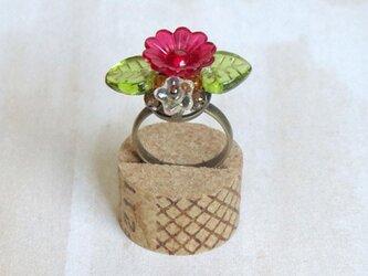 プラフラワーの指輪(レッド)の画像