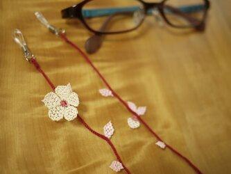 イーネオヤで眼鏡ストラップ (紅白)の画像