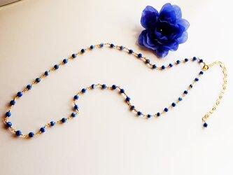ラピスラズリ ネックレス Petit pierre Lapis lazuli amulet necklace N0008の画像
