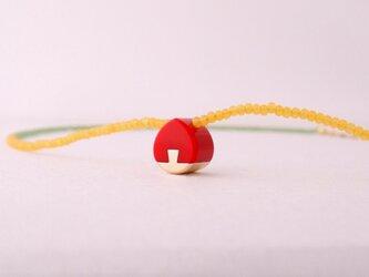 ネックレス Drop mini   Red S16の画像