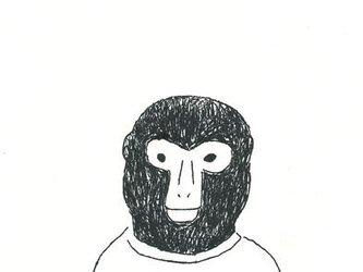 ポストカードセット-カジュアルな猿の画像