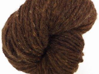 手紡ぎ毛糸:コーモ チョコレート色 100gの画像