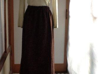 ウールのギャザースカートの画像