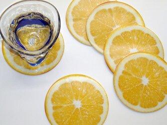 おもてなし用コースター♪レモンの画像