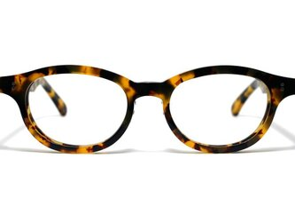 (男性向け)黄色と黒のマーブル模様のセルロイドメガネ068-バラフの画像