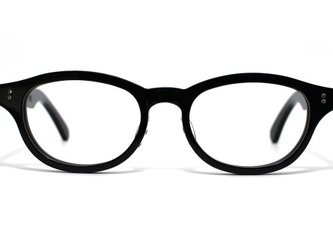 漆黒のようなダークブラウンのセルロイドメガネ068-BBの画像