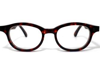 (体の大きい人向け)琥珀のような柄のセルロイドメガネ068-AAの画像