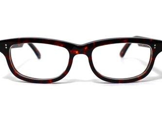 (体の大きい人向け)琥珀のような柄のセルロイドメガネ050-AAの画像