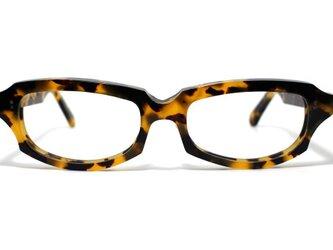 (男性向け)黄色と黒のマーブル模様のセルロイドメガネ049-バラフの画像