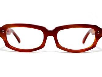男性向け赤と茶色マーブル生地ののセルロイドメガネ049-FFの画像