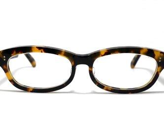 男性向け黄色と黒のマーブル模様のセルロイドメガネ048-バラフの画像