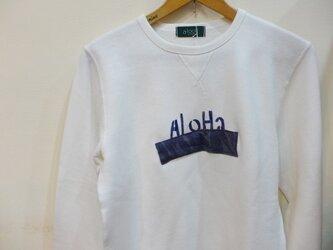 スウェットトレーナー <AloHa> リメイク Mの画像