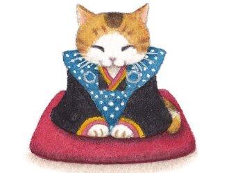 たとう包みのポチ袋 福助猫の画像