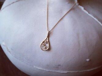 K10 涙の滴 necklace 3dia longchainの画像