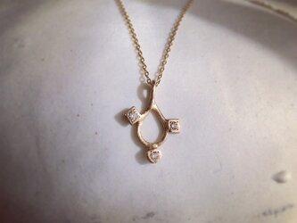 K10 涙の滴 necklace 3diaの画像