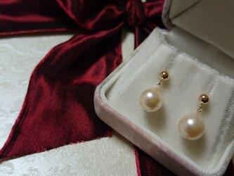 あこや本真珠  9㎜珠 k14gfピアスの画像