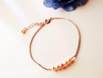 淡水パール真珠ブレスレット Eau Perle bracelet B0022の画像