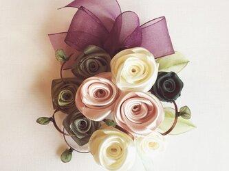 【再販】ribbon flower rose mist|02の画像