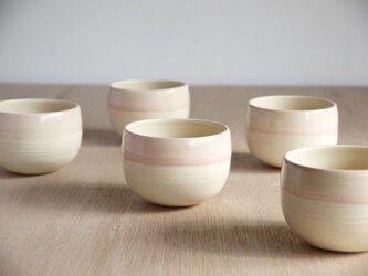 白土桃化粧丸鉢カップの画像