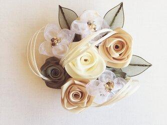 ribbon flower snow white|04の画像