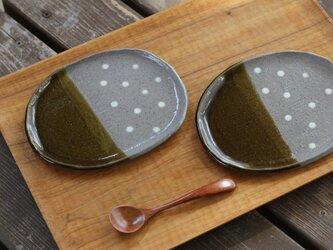 chouette.omi ペア 水玉のお皿♪ ブラウンの画像