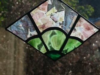 ステンドグラス お正月飾り 松3の画像