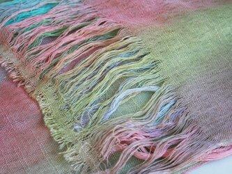 シルク100% 手染めストール rainbow-standard-01の画像