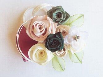 ribbon flower teal green | 07の画像