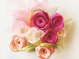 ribbon flower rose pink|09の画像