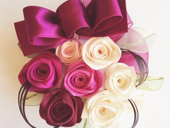 ribbon flower ruby |010の画像