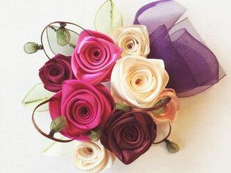 ribbon flower raspberry|012の画像
