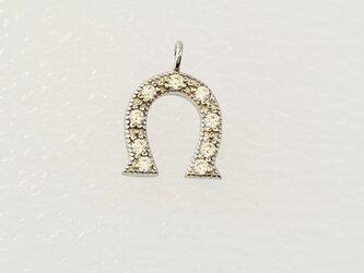 【アクセサリートップ】馬蹄・丸環付き・銀の画像