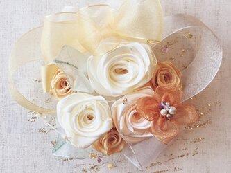 ribbon flower orange|013の画像