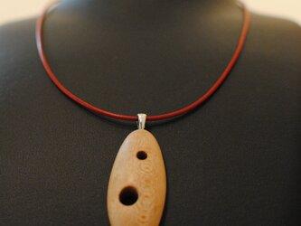 ウッドネックレス(メープル)の画像