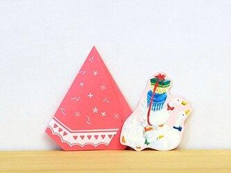 カード 2個セット あひるテント ピンクの画像