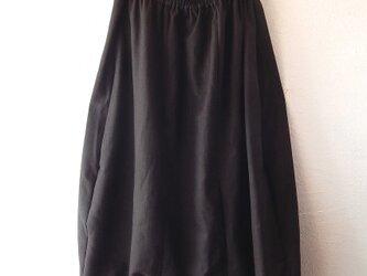 着物リメイクサルエルパンツ ブラウンストライプの画像