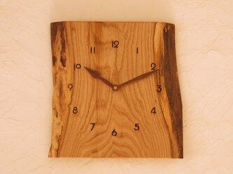 掛け時計 栗材④の画像