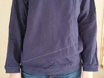 スウェットパーカ風 ダブルガーゼプルオーバーの画像