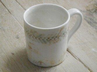 緑釉象嵌 マグカップの画像