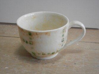緑釉象嵌 マグカップ(丸)の画像