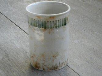 緑釉象嵌 フリーカップの画像