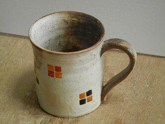 百色(ももいろ)象嵌 マグカップ 四角紋の画像