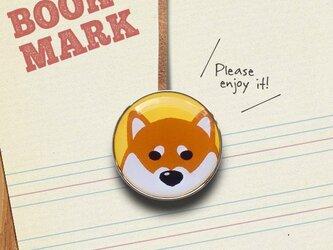 「ジッとこちらを見つめる柴犬のクリップ型ブックマーク(色違い)」no.219の画像